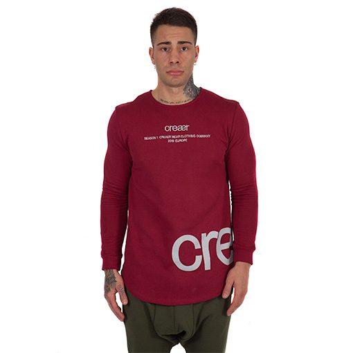 creaerwear_sweatshirtredlogochico_frontal2